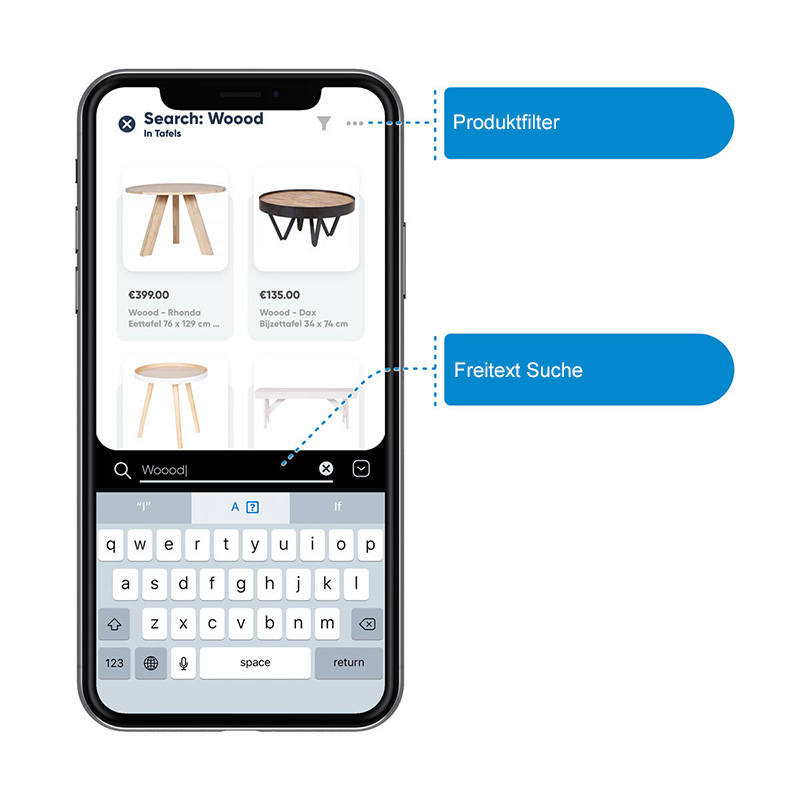 Online Handel für iOS und Android